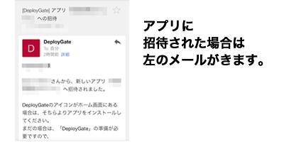 アプリに招待された場合は左のメールがきます。